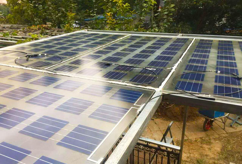 Household solar power system settled in Tongzhou district, Be