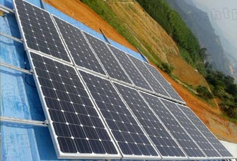 Hotian household solar power system settled in Nanping, Fujia