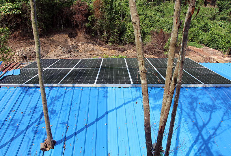Hotian Solar Power Generation system provides Electric Power